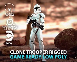 Clone  trooper rigged 3D model