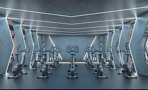 Gym exercise body exercise fitness equipment iron equipment area treadmill spinning model