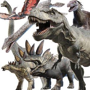 dinosaurs dinopack small 3D