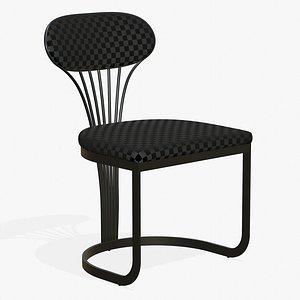 3D Dining Chair Luxury Black