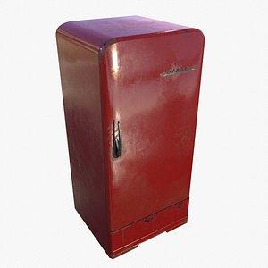 3D model Soviet Vintage refrigerator Zil Moskva 9 Color Variants