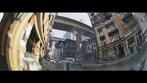 Photoreal City Street Scene model