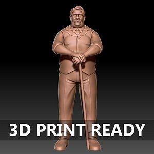 Cartoon Man 3d print ready 3D model
