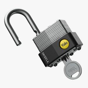 3D Padlock 03 Key model