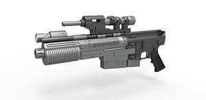 Blaster rifle A300 3D