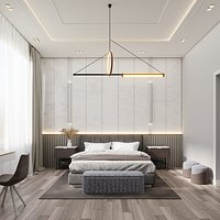 Stylish Bedroom Interior - Blender