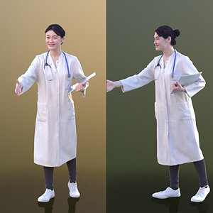 3D young doc doctor model