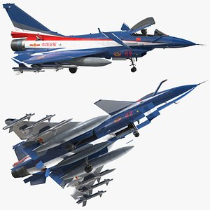 3D plaaf j10 vigorous dragon