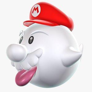 3D Boo Mario Galaxy 8K Super Mario Asssets