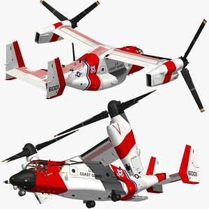 3D CMV22 Osprey Guard Coast model