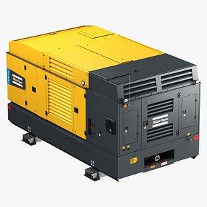 3D Atlas Copco Large Portable Diesel Air Compressor - XAVS - XATS 528 SD model