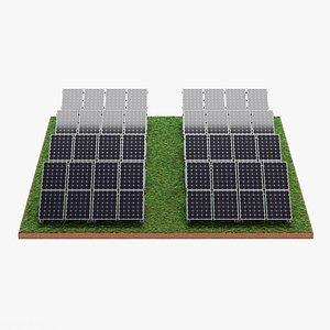 Solar Farm 3 3D model