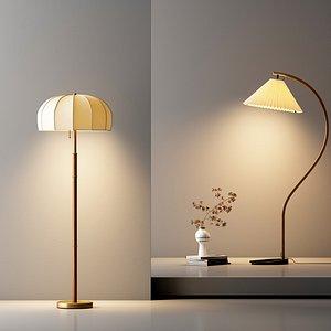 Delicate floor lamp 3D
