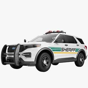 3D Ford Explorer 2020 Police 05