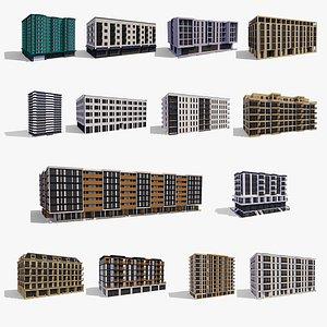 Apartment Buildings Collection 3D model