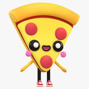 3D cute cartoon pizza model