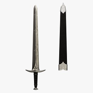 sword longsword single-handed model