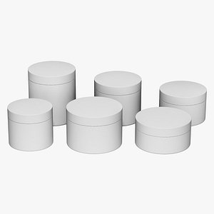 cosmetic jars 3D model