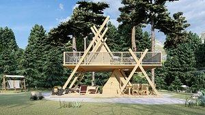 designed glamping frame tower 3D model