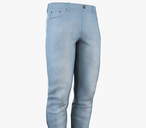 Light Blue Jeans 3D model