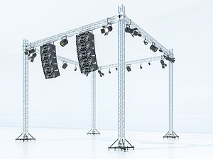stage truss 3D model