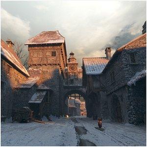 3D model Medieval street