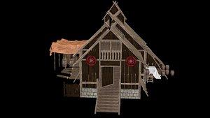 3D model VIKING LONG HOUSE
