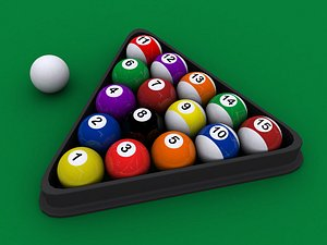 Old Pool Balls 3D model