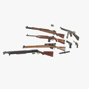 Retro PSX US Army weapon pack 3D