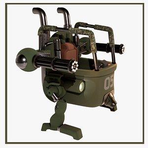 3D Metal Slug Mecha Tank model