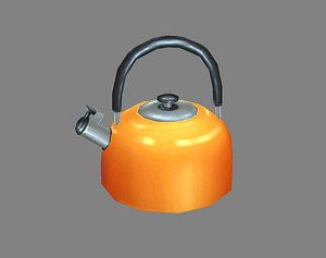 3D kettle water hot model