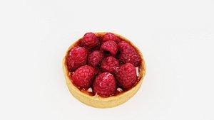 3D model Raspberrytartelette, tart or tartlet pastry