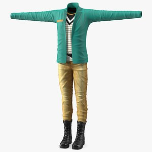 Fashionable Style Outfit Set 3D model