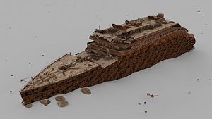 3D Titanic bow Low-poly model