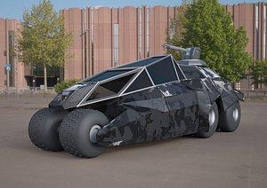 3D model batmobile concept car