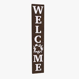3D model Welcome Sign