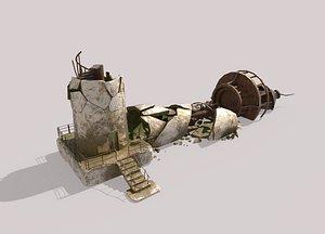 3D model Destroyed Lighthouse