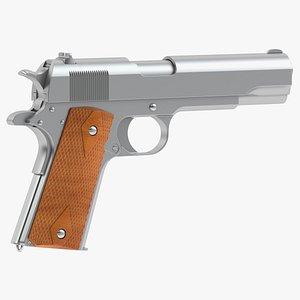 dan wesson m1911 pistol 3D model