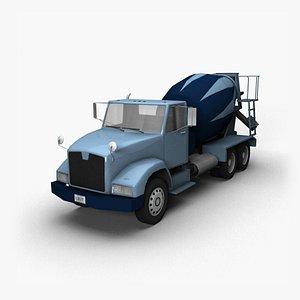 90s Truck Mixer HT 3D