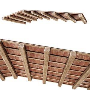 ceiling wooden wood 3D model