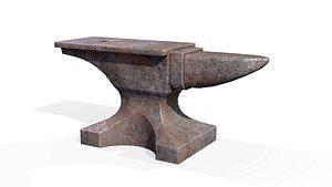 Rusty anvil 3D model