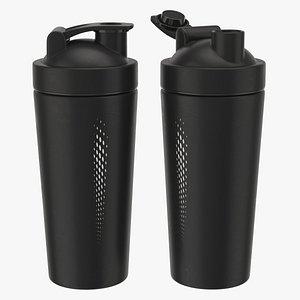 3D Matte Black Protein Shaker