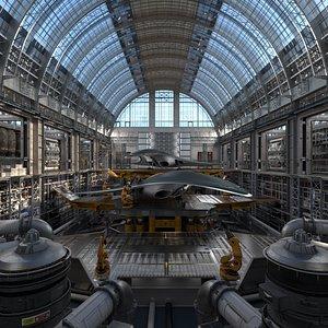 hangar scene model