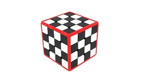 Checker Cube 3D model