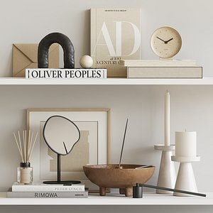 Decorative beige set model