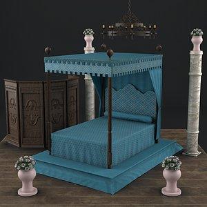 medieval antique chateau chenonceau model