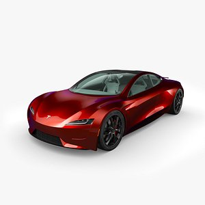 tesla roadster interior car 3D model