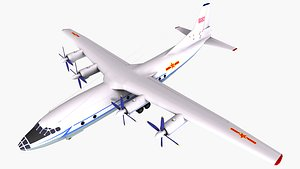 3D model plane aircraft airplane