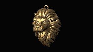 3D print furious lion head model