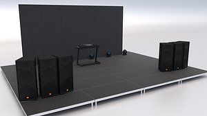 3D Dj Booth Stage